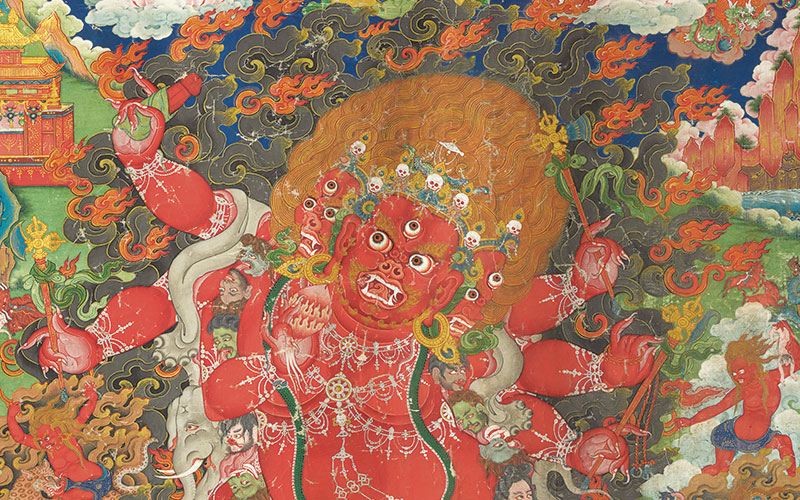 Collecting guide Teachings of the thangka