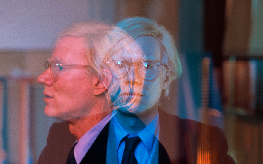 Double exposure of Andy Warhol in his 'Factory' at Union Square, New York City, 1981. Photograph © Thomas HoepkerMagnum Photos