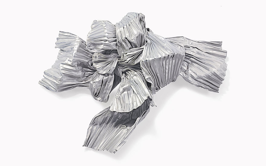 Lynda Benglis (b. 1941), Circinus, executed in 1985. Bronze wire mesh, zinc and aluminium, 55 x 75 x 21¼ in (139.7 x 190.5 x 54 cm). Estimate $80,000-120,000