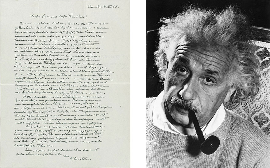 Time's arrow Albert Einstein's letters to Michele Besso