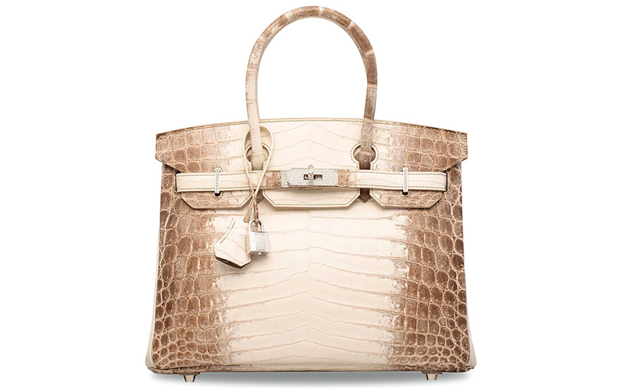 An exceptional, matte white Himalaya Niloticus crocodile diamond Birkin 30 with 18k white gold & diamond hardware, Hermès, 2014. Sold for HK$2,940,000 on 31 May 2017  at Christie's in