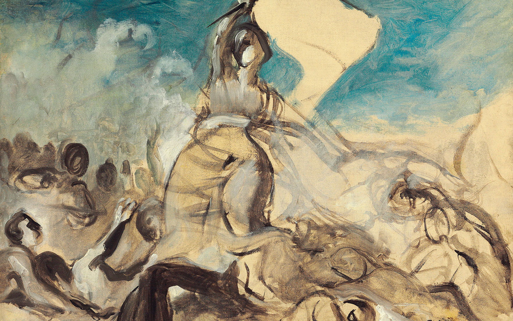 Eugène Delacroix (French, 1798-1863), Le 28 juillet – la liberté guidant le peuple, 1830. Oil on canvas. 25⅜ x 32 in (64.5 x 81.3 cm). Estimate £700,000-1,000,000. This work will be offered