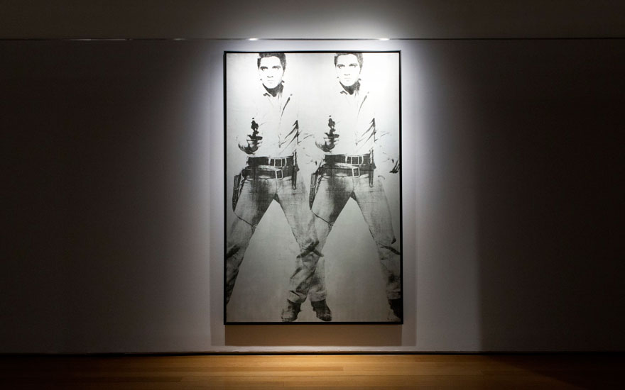 Andy Warhol (1928-1987), Double Elvis [Ferus Type], 1963. Silkscreen ink and silver paint on linen. 81 7⁄8 x 52 3⁄4 in (208 x 134 cm.) Estimate $50,000,000-70,000,000. Offered in the Post-War and