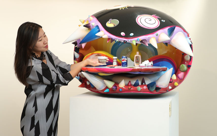 Takashi Murakami & Pharrell Williams, The Simple Things, 2008-2009. Sold for HKD21,725,000 on 23 November 2019 at Christie's in Hong Kong