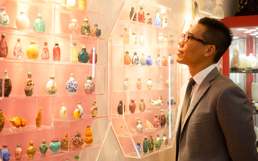 Vice President of Christies Chinese Ceramics and Works of Art Department Ruben Lien. Photograph by Jingya Liu