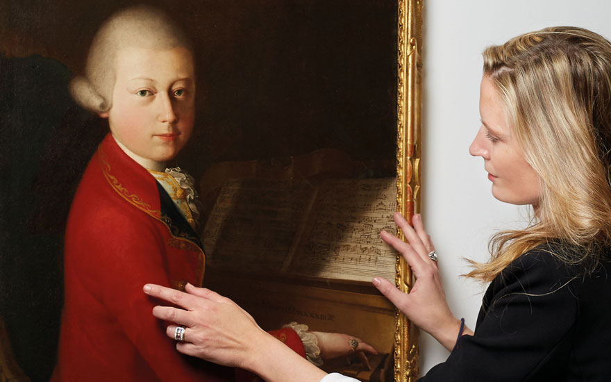 Astrid Centner with Portrait of Wolfgang Amadeus Mozart at the Age of 13 in Verona. Offered in The Exceptional Sale on 27 November 2019 at Christie's in Paris