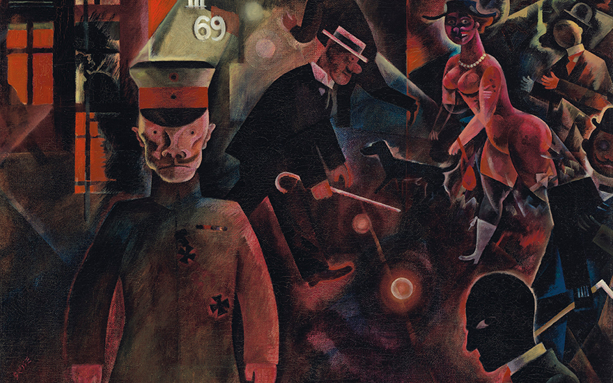 (Detail) George Grosz (1893-1959), Gefährliche Straße, painted in July 1918. Oil on canvas. 18⅝ x 25¾ in (47.3 x 65.3 cm). Estimate £4,500,000-6,500,000. Offered in the
