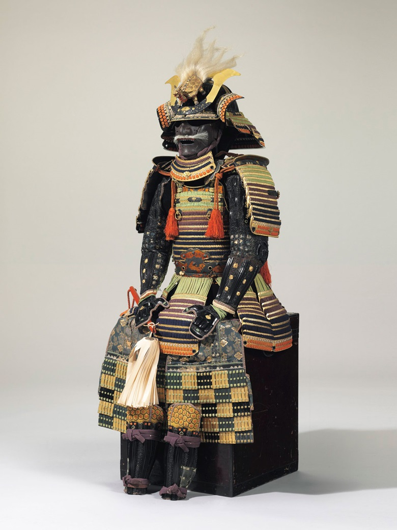 An iroiro odoshi ni-mai do gusoku (variegated lacing two-piece cuirass armour). Edo Period (17th century). Estimate $100,00-150,000. This lot is offered in the Inquiring Mind American Collecting of Japanese and Korean Art sale on 15 April at Christie's New York