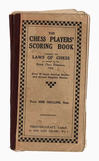 The cover of Duchamps scoring book