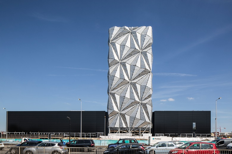 The Optic Cloak, part of the new low-carbon Energy Centre on Greenwich Peninsula, photograph by Marc Wilmot, courtesy of the Greenwich Peninsula