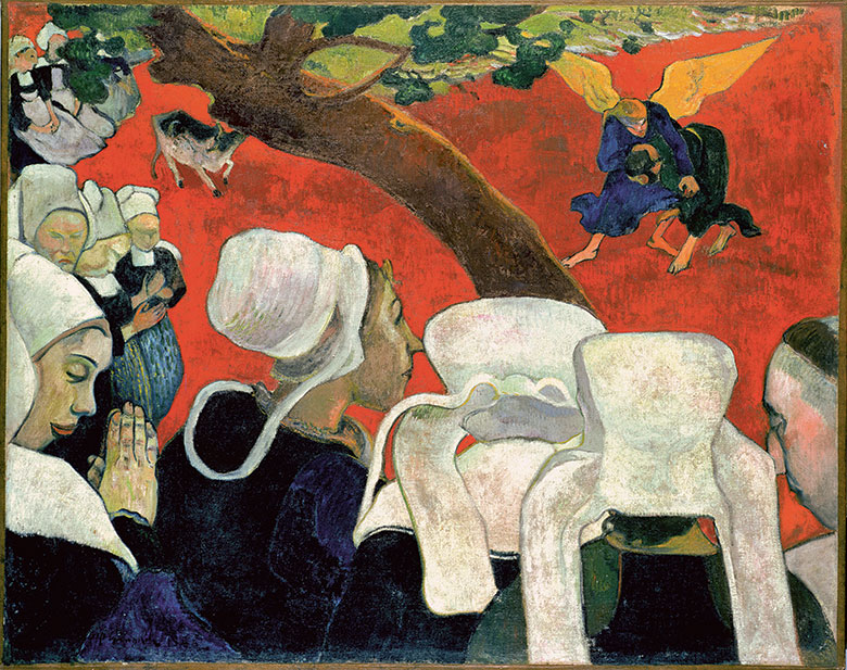 Paul Gauguin, Vision of the Sermon (Jacob Wrestling with the Angel), 1888. National Galleries of Scotland