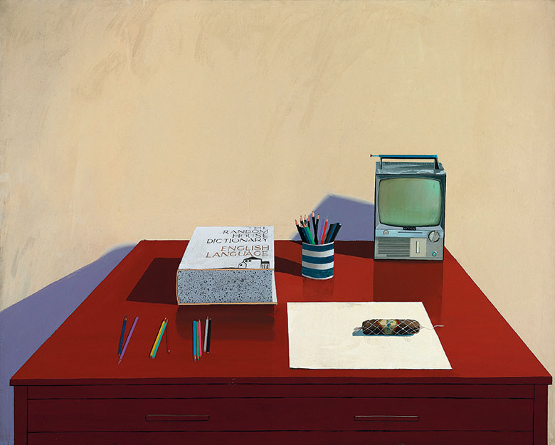 David Hockney, Still Life with TV, 1969. Acrylic on canvas. The David Hockney Foundation. © David Hockney