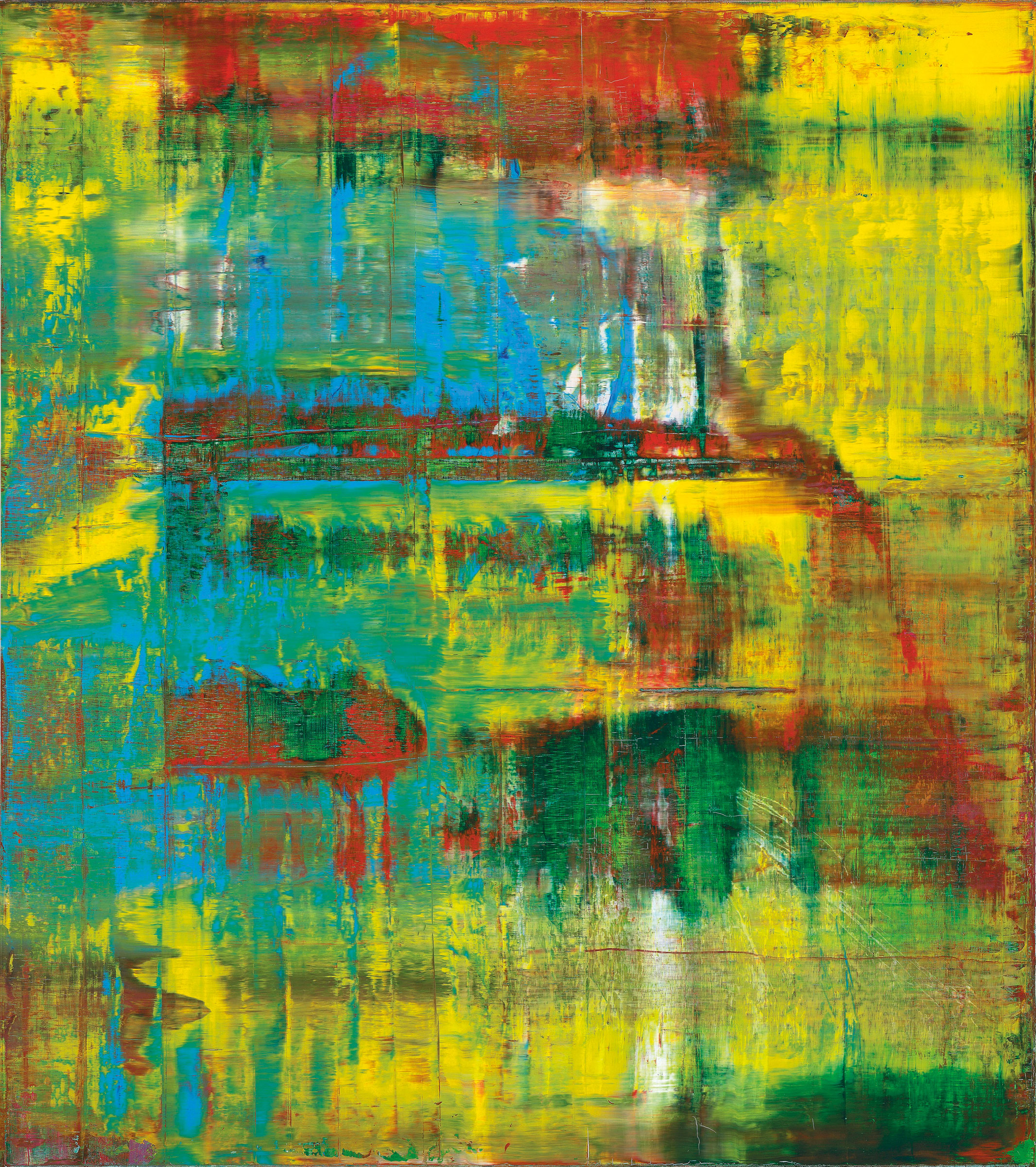 Gerhard Richter (b.  1932), Abstraktes Bild (809-2), 1994. Oil on canvas, 88½ x 78¾ in (225 x 200 cm). Estimate $18,000,000-25,000,000. This lot is offered in Post-War & Contemporary Art Evening Sale  on 15 November 2016 at Christie's in New York, Rockefeller Plaza