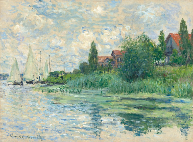 Claude Monet, Les Bords de la Seine au Petit-Gennevilliers, 1874. Estimate £2,000,000-3,000,000. This work is offered in the Impressionist & Modern Art Evening Sale on 28 February at Christie's London