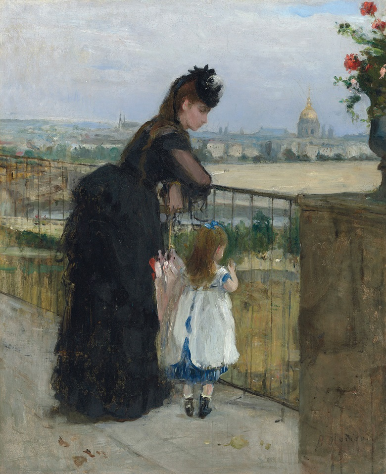 Berthe Morisot, Femme et enfant au balcon, 1872. Estimate £1,500,000-2,000,000. This work is offered in the Impressionist & Modern Art Evening Sale on 28 February at Christie's London