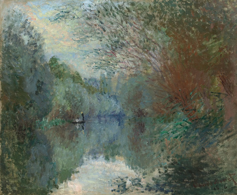 Claude Monet (1840-1926), Saules au Bord de l'Yerres, 1876. Oil on canvas. 21 38 x 25 78 in (54.4 x 65.7 cm). Estimate £1,500,000-2,500,000. This work is offered in the Impressionist & Modern Art Evening Sale on 28 February at Christie's London