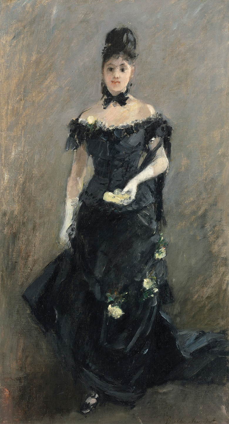 Berthe Morisot (1841-1895), Femme en Noir, 1875. Estimate £600,000-800,000. Oil on canvas. 22 58 x 12 18 in (57.3 x 30.7 cm). This work is offered in the Impressionist & Modern Art Evening Sale on 28 February at Christie's London