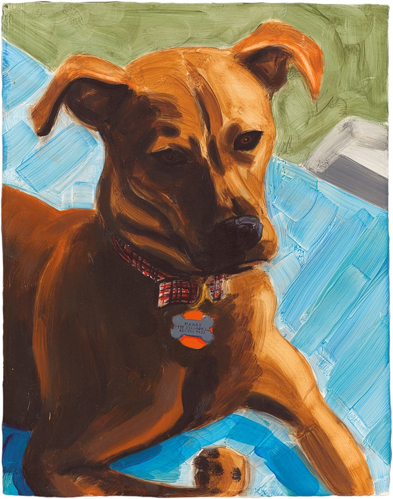 Elizabeth Peyton (b. 1965), (Dark) Harry, 2002. Oil on board 36 x 28.2 cm. Sold for £100,000 on 8 March 2017 at Christie's in London