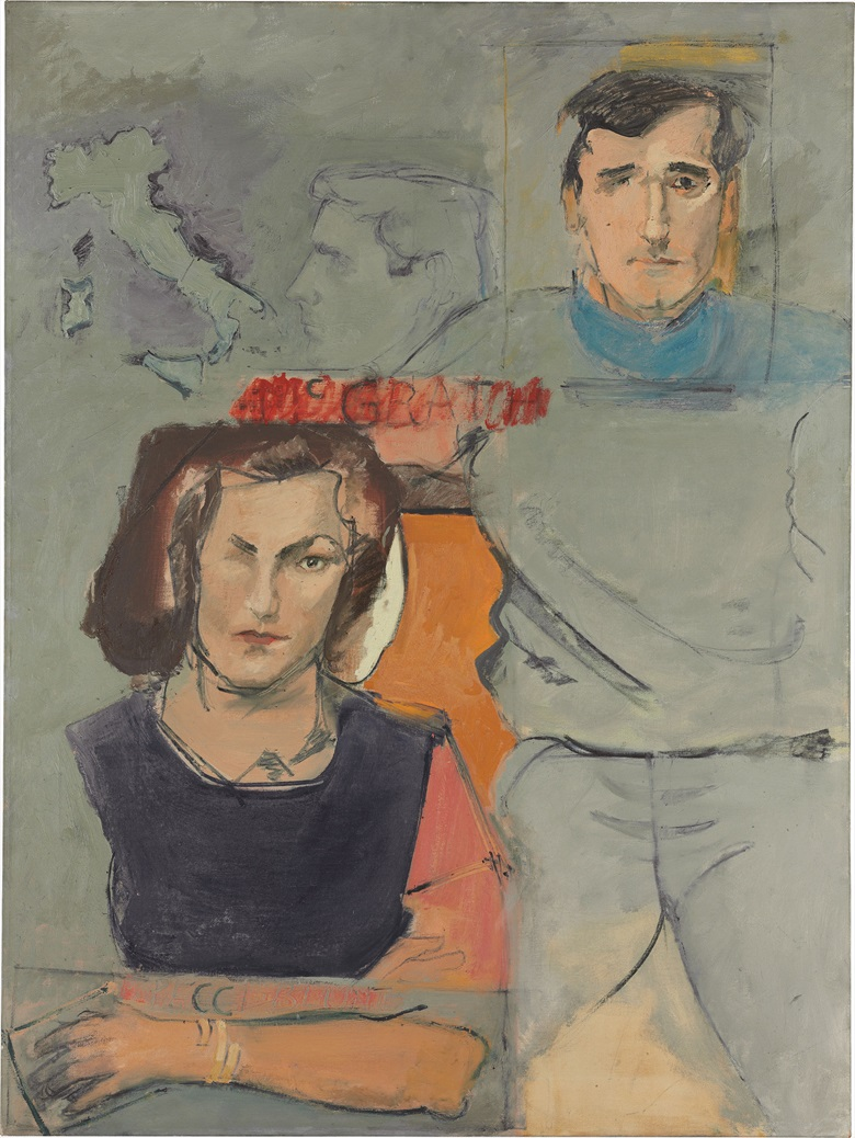 Larry Rivers (1923-2002), Formal Marriage Portrait Of Earl And Camilla Mcgrath, 1965. Oil on canvas, 48 x 36 in (121.9 x 91.4 cm). Estimate $15,000-20,000. This lot is offered in The Collection of Earl and Camilla McGrath on 3 March 2017 at Christie's in New York, Rockefeller Center