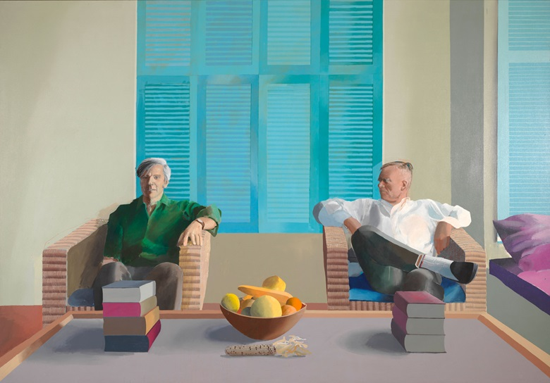 David Hockney, Christopher Isherwood and Don Bachardy, 1968. Private collection. Artwork © David Hockney