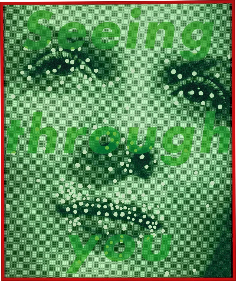Barbara Kruger (b. 1945), Untitled (Seeing through you), 2004. 72½ x 60⅞ in. This work is number three from an edition of 10. (184.2 x 154.6 cm). Estimate $60,000-80,000. This work is offered in Post-War and Contemporary Art on 3 March at Christie's in New York