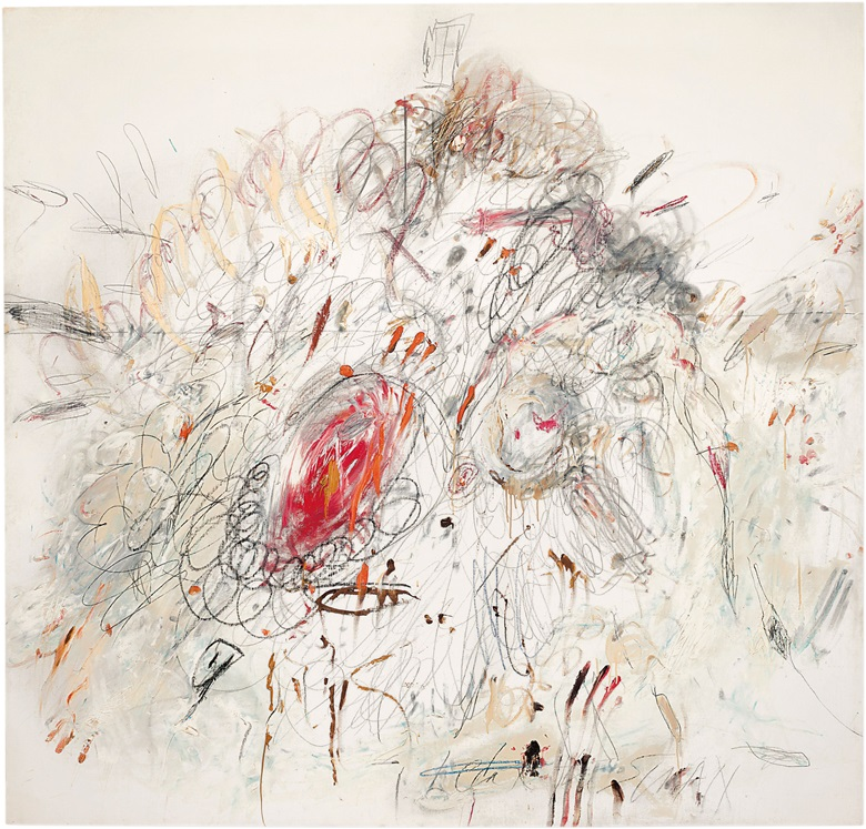 Cy Twombly, Leda and the Swan, 1962. Sold for $52,887,500 in the Post War and Contemporary Art Evening Sale on 17 May 2017 at Christie's in New York