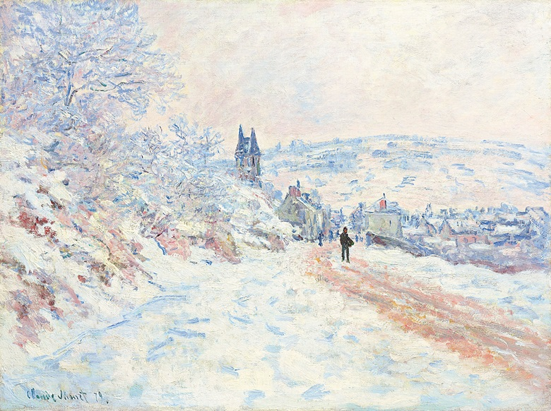Claude Monet (1840-1926), La route de Vétheuil, effet de neige, 1879. Oil on canvas, 24⅛ x 32⅛ in (61.1 x 81.1 cm). Estimate $10,000,000-15,000,000. This lot is offered in Impressionist & Modern Art Evening Sale on 15 May at Christie's in New York