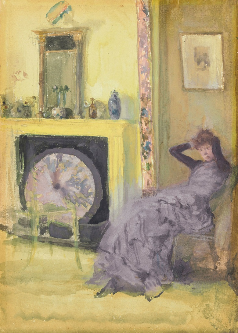James McNeill Whistler (1834-1903), The Yellow Room, circa 1883-84. Watercolour and gouache on paperboard. 9¾ x 7 in (24.8 x 17.8 cm). Estimate $500,000-700,000 This work is offered in American Art on 23 May at Christie's in New York