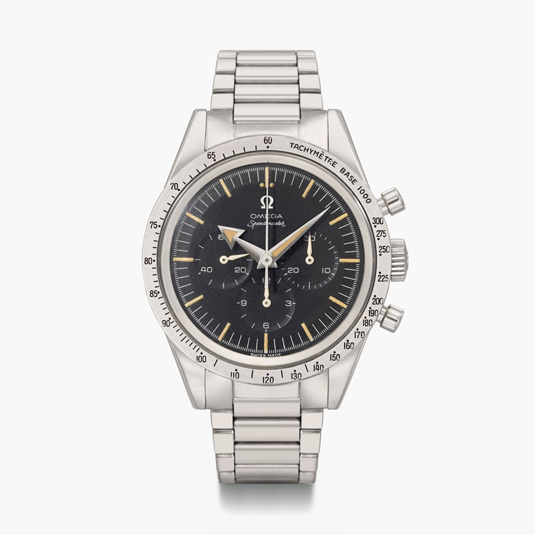 Omega Speedmaster Broad Arrow model, ref. 2915-2. Sold for $118,750 on 15 December 2015 at Christie's in New York