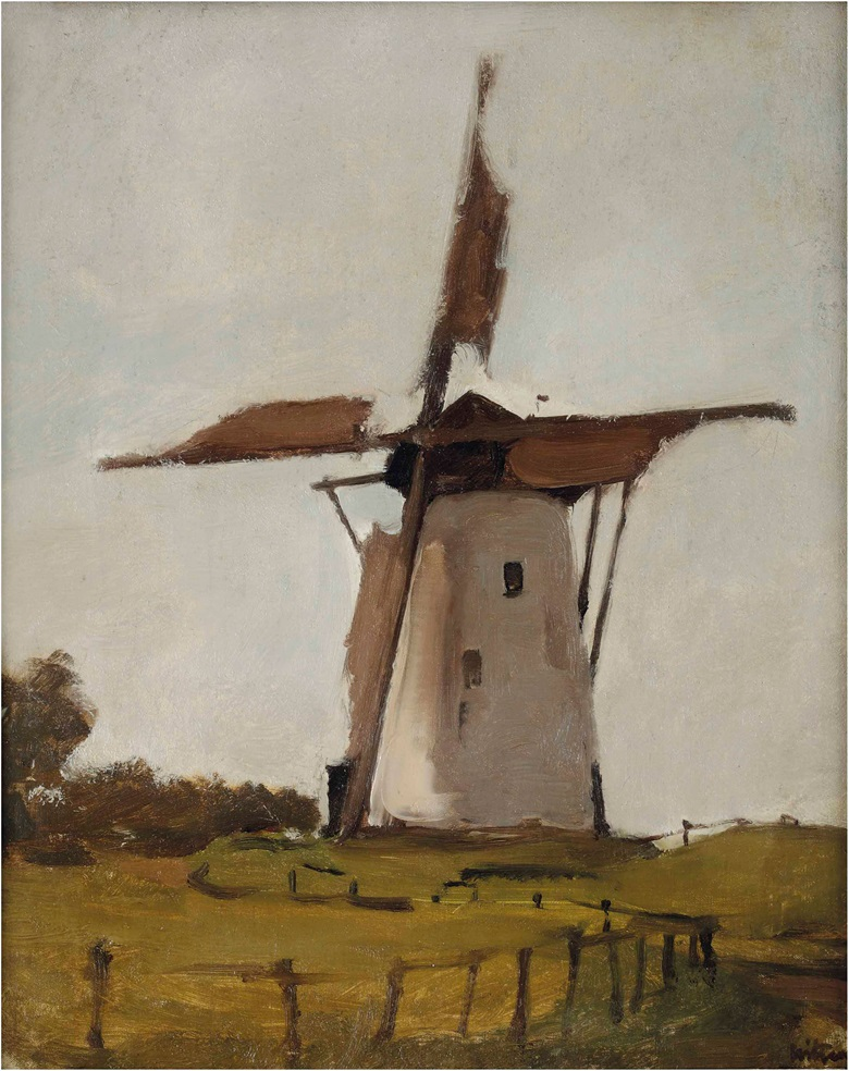 Willem Witsen (1860-1923), Witte molen, Wijk bij Duurstede The Windmill. Oil on canvas, 50 x 41.5 cm. Estimate €1,500-2,500. This lot is offered in The former Kamerbeek Collection on 12 June 2017 at Christie's in Amsterdam