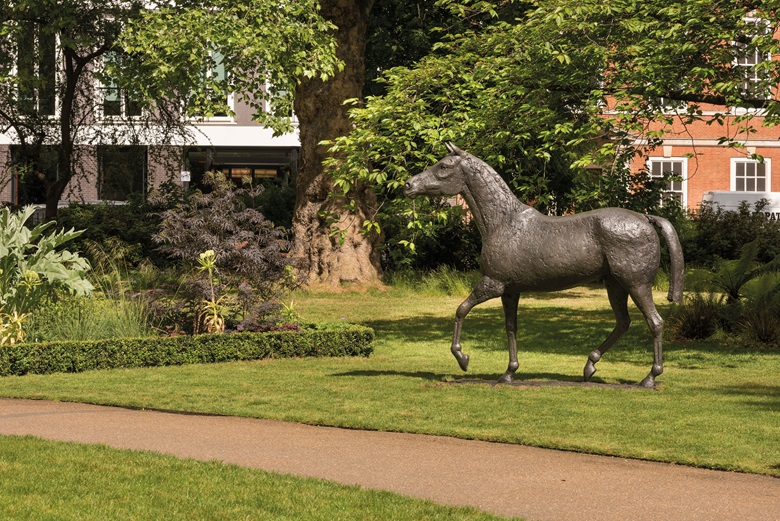 Dame Elisabeth Frink, Horse, conceived in 1980. Bronze with a greybrown patina. 252 cm wide. Estimate £700,000-1,000,000. This work is offered in the Modern British & Irish Art Evening Sale on 26 June at Christie's London