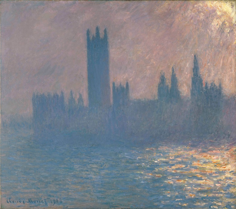 Claude Monet (1840-1926), Houses of Parliament, Sunlight Effect, 1903. Oil on canvas. 813 x 921 mm. Brooklyn Museum of Art, New York