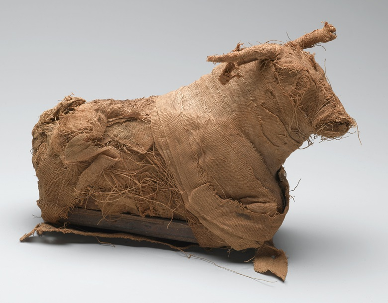 Model of a Bull. From Egypt. Third Intermediate Period or Late Period, Dynasty 21-30, circa 1075-332 B.C. Brooklyn Museum; Charles Edwin Wilbour Fund. Photo Sarah DeSantis, Brooklyn Museum