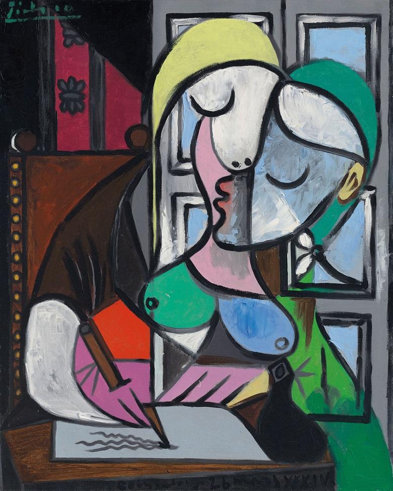 Pablo Picasso (1881-1973), Femme écrivant (Marie-Thérèse). Painted on 26 March 1934 in Boisgeloup. Oil on canvas. 31⅞ × 25½ in (80.9 × 64.7 cm). Estimate £25-40 million. This work is offered in the Impressionist and Modern Art Evening Sale on 27 June at Christie's London © Succession PicassoDACS, London 2017