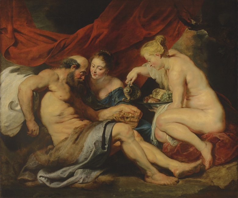 Peter Paul Rubens (1577-1640), Lot and His Daughters, 1613-14. Oil on canvas. 190 x 225 cm (74 x 88½ in). Sold for £44,882,500 on 7 July 2016 at Christie's London. © Christie's Images