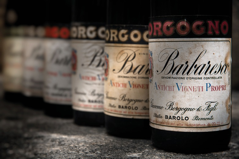 Borgogno, Barolo Riserva Speciale 1955 (1) Barolo Riserva 1958 (1) Barbaresco Riserva 1961 (1) Barolo Riserva 1964 (1) Barolo Riserva 1970 (2) Barbaresco Riserva 1973 (1), 7 bottles per lot. This lot was offered in Fine and Rare Wines including a Superb Selection from the Cellars of the Earl of Halifax  on 21 September 2017  at Christie's in London and sold for £1,080