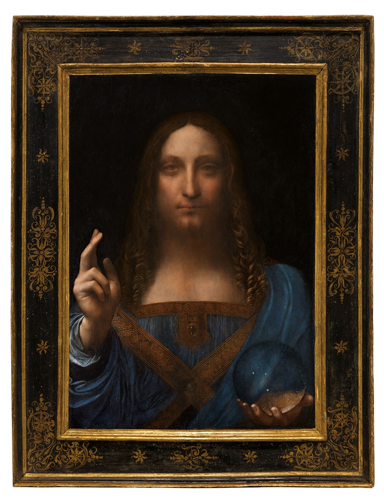 Leonardo da Vinci (1452-1519), Salvator Mundi, painted circa 1500. Oil on walnut panel. Panel dimensions 25 1316 x 17 1516 in (65.5 x 45.1 cm) top; 17¾ in (45.6 cm) bottom. Painted image dimensions 15⅜ x 17½ in (64.5 x 44.7 cm). Estimate on request. This work will be offered as a special lot in the Post-War & Contemporary Art Evening Sale on 15 November 2017  at Christie's