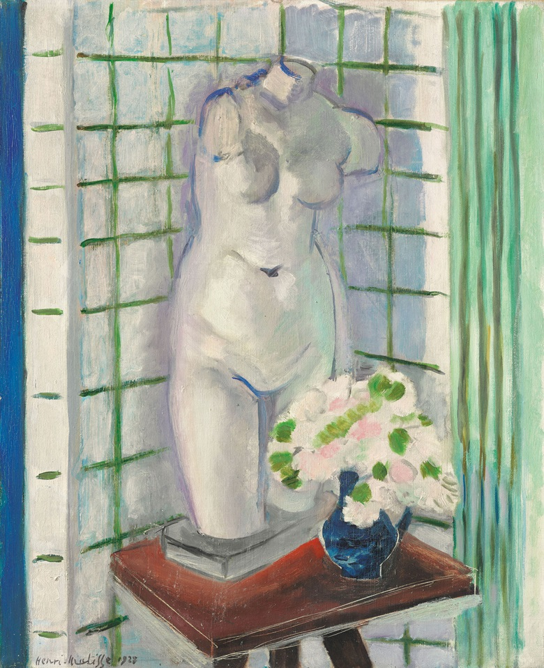 Henri Matisse (1869-1954), Antique et oeillets, painted in Nice, 1928. 24 x 19¾  in (61 x 50.2  cm). Estimate $1,500,000-2,500,000. This lot is offered in the Impressionist & Modern Art Evening Sale on 13 November 2017  at Christie's in New York