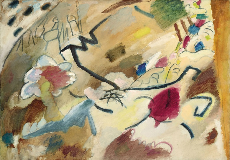 Wassily Kandinsky (1866-1944), Improvisation mit Pferden, 1911. Oil on canvas. 28 x 39 in (71.1 x 99.1 cm). This work was offered in the Impressionist and Modern Art Evening Sale on 13 November 2017 at Christie's in New York and sold for $12,687,500