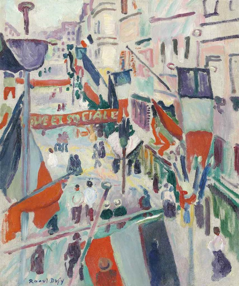 Raoul Dufy (1877-1953), 14 juillet, 1906. Oil on canvas. 18⅛ x 15⅛ in (46 x 38.3 cm). This work was offered in the Impressionist & Modern Art Evening Sale on 28 February at Christie's London and sold for £1,025,000