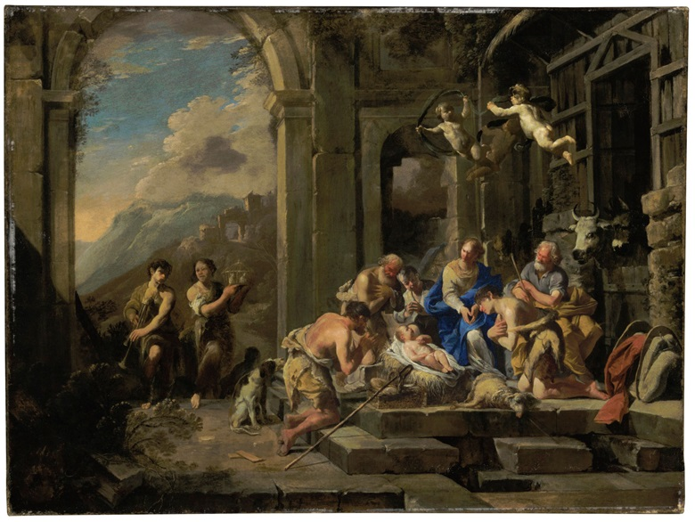Domenico Gargiulo, called Micco Spadaro (Naples 1612-1679), The Adoration of the Shepherds. Oil on canvas. 29⅞ x 40 in (75.7 x 101.4 cm). Estimate $100,000-150,000. This work is offered in Old Masters Part I on 19 April at Christie's in New York