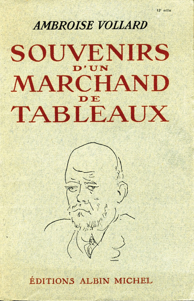 The cover of Vollard's memoir, Souvenirs dun marchand de tableaux (Recollections of a Picture Dealer), 1936. © All rights reserved