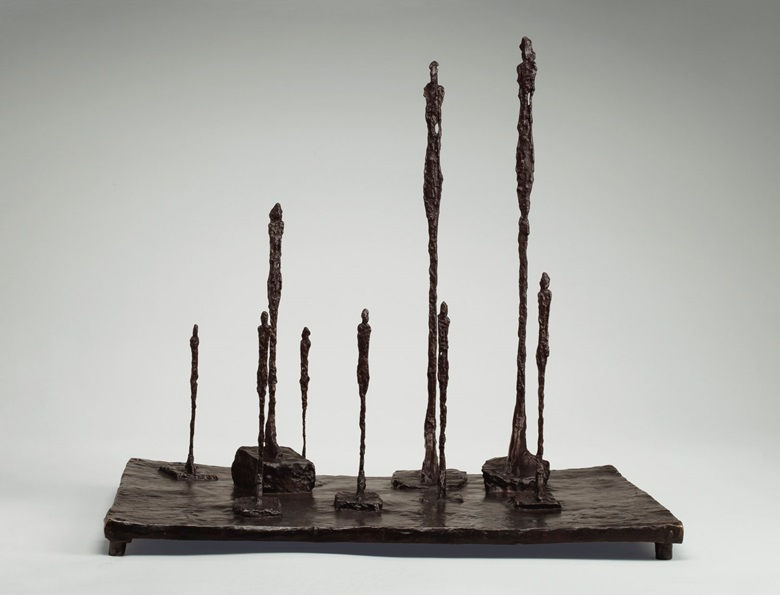 Alberto Giacometti (1901-1966), La Clairière, conceived in 1950 and cast between 1950-52. Bronze with brown patina. Height 23⅜ in (59.4 cm); length 25¾ in (65.4 cm); width 20½ in (52.1 cm). Estimate $10,000,000-15,000,000. Offered in the Impressionist and Modern Art Evening Sale on 15 May at Christie's in New York © 2018 Alberto Giacometti Estate  Licensed by