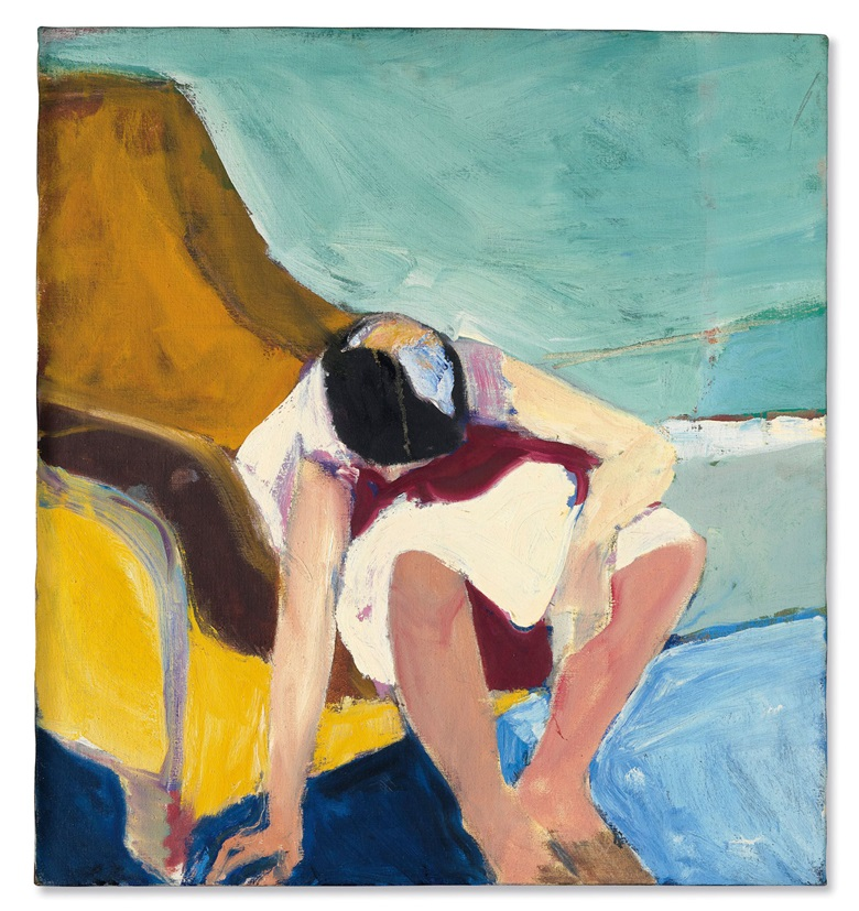 Richard Diebenkorn (1922-1993), Untitled, 1965. Oil on canvas. 28⅛ x 26 in (71.4 x 66 cm). Estimate $2,000,000-3,000,000. Offered in the Post-War and Contemporary Art Evening Sale on 17 May at Christie's in New York © The Richard Diebenkorn Foundation