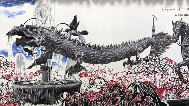 Sun Xun, Magician Party and Dead Crow (still), 2016, image courtesy and © the artist
