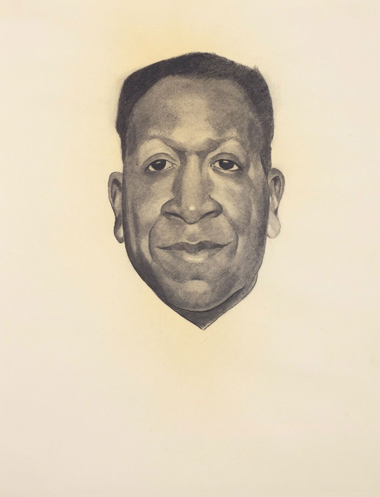 Georgia OKeeffe (1887-1986), Beauford Delaney, executed in 1943. Charcoal on paper. 24¾ x 18½ in (62.9 x 47 cm). Sold for $372,500 on 13 November 2018 at Christie's in New York