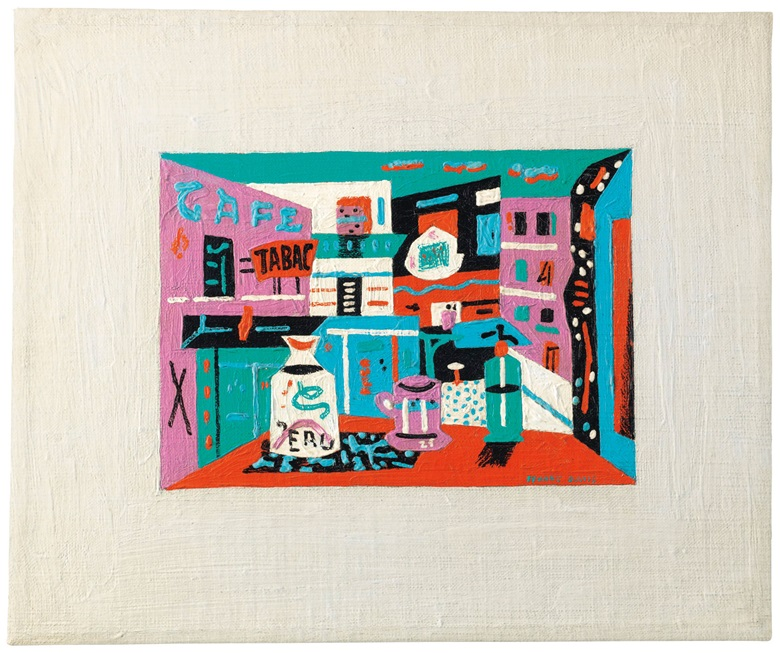 Stuart Davis (1892-1964), Still Life in the Street, painted in 1941. Oil on canvas. 10⅛ x 12⅛ in (25.7 x 30.8 cm). Sold for $780,500 on 13 November 2018 at Christie's in New York