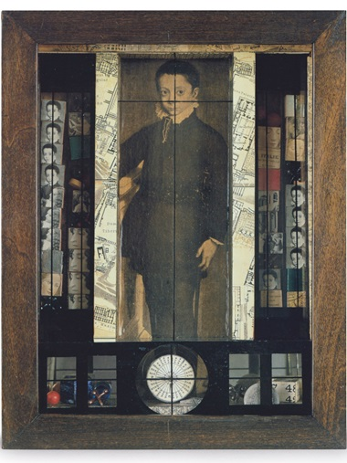 Joseph Cornell (1903-1972), Medici Slot Machine Object, executed in 1942. Box construction — wood, glass, marbles and printed paper collage. 15½ x 12 x 4⅜ in (39.4 x 30.5 x 11 cm). Offered in the Post-War and Contemporary Art Evening Sale on 15 November at Christie's in New York © 2018 The Joseph and Robert Cornell Memorial Foundation  Licensed by VAGA at Artists Rights