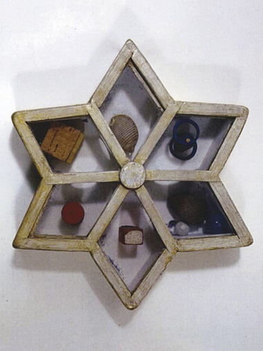 Joseph Cornell (1903-1972), Untitled (Star Game), executed circa 1948. Box construction — wood, glass, coloured glass, sand and found objects. 2⅝ x 12¾ x 12¾ in (6.7 x 32.4 x 32.4 cm). Offered in the Post-War and Contemporary Art Evening Sale on 15 November at Christie's in New York © 2018 The Joseph and Robert Cornell Memorial Foundation  Licensed by VAGA