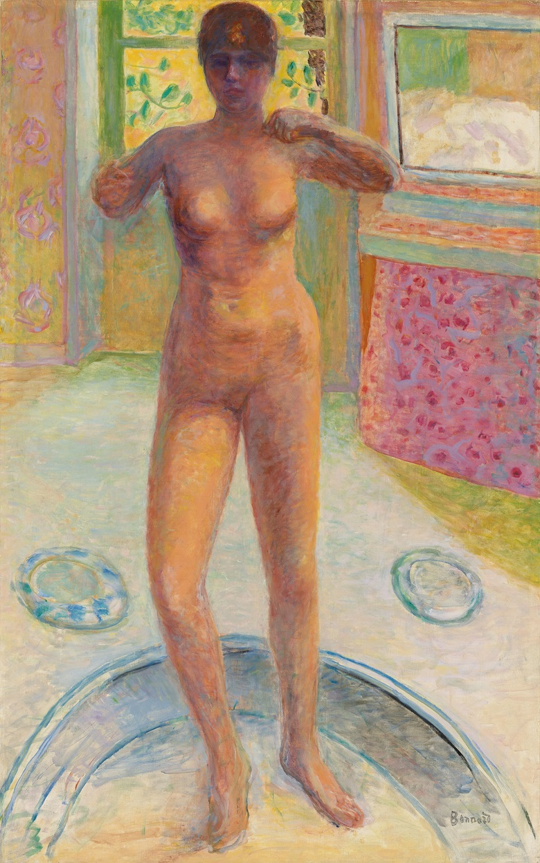 Pierre Bonnard (1867-1947), Femme au tub, 1924. Oil on canvas. 51 x 32 in (129.5 x 81.2 cm). Estimate £4,000,000-6,000,000. Offered in Hidden Treasures on 27 February 2019 at Christie's in London